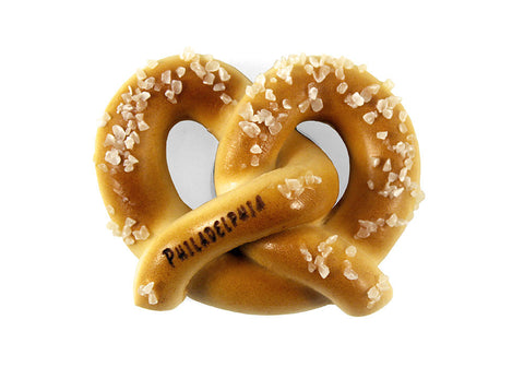 Philadelphia Soft Pretzel Sculpted Magnet