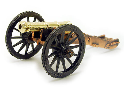 "Revolutionary War English 6 Pounder Field Gun Cannon 5-1/4"" Long"