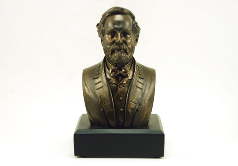"Robert E. Lee 6"" Polystone Bronze-Finished Bust"