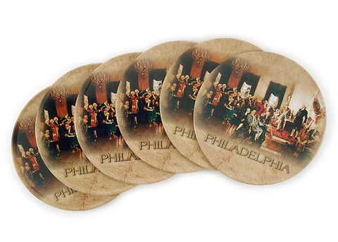 The Signing Fathers Coasters (6-Pack)