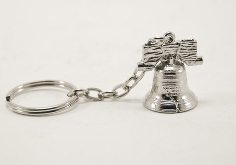 Mini Liberty Bell Keychain Nickel Finished