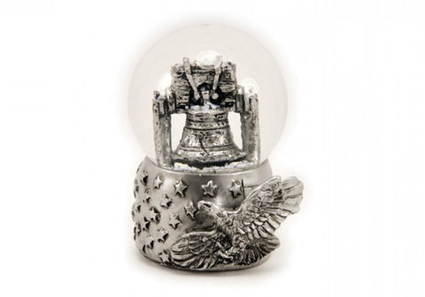Liberty Bell with Eagle in Silver 65mm Snow Globe