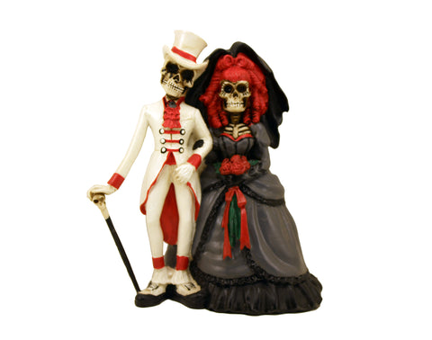Gothic Bride and Groom Love Never Dies Figurine