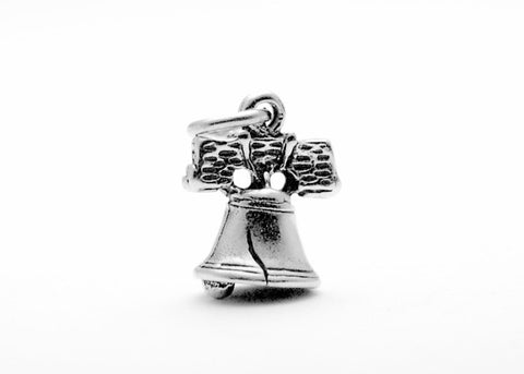 Liberty Bell Sterling Silver Charm (Small)