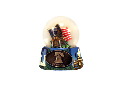 Liberty Bell & Benjamin Franklin Small Snow Globe