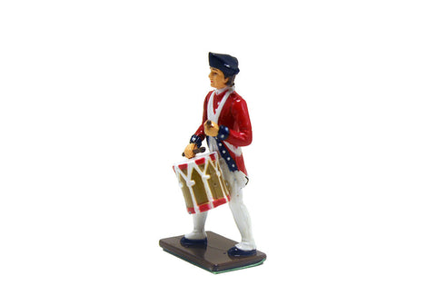 Colonial Drummer Metal Soldier