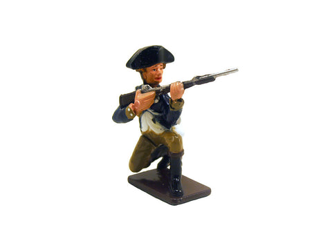 Colonial Infantryman Kneeling Metal Soldier