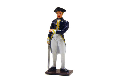 British Naval Commander Metal Soldier