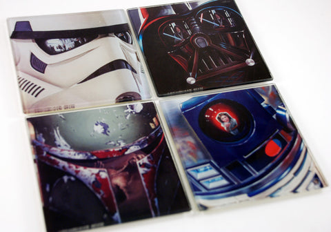 Star Wars Glass Coaster Set of 4
