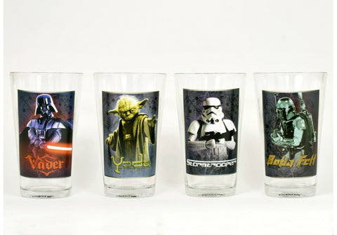 Star Wars 4 pcs 16 oz Glass Set