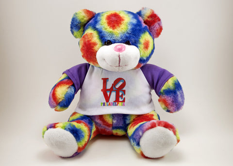 Tie-Dye LOVE Philadelphia Plush Bear