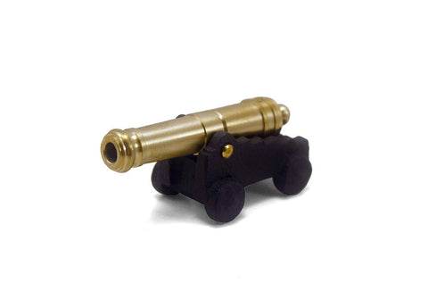 "24 Pounder Naval Cannon With Simulated Wheels 3"" Long"