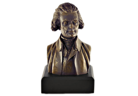 "Thomas Jefferson 11"" Bronze Bust"