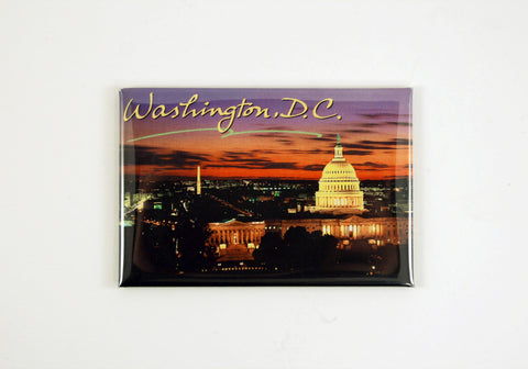 Washington DC Night Skyline Magnet