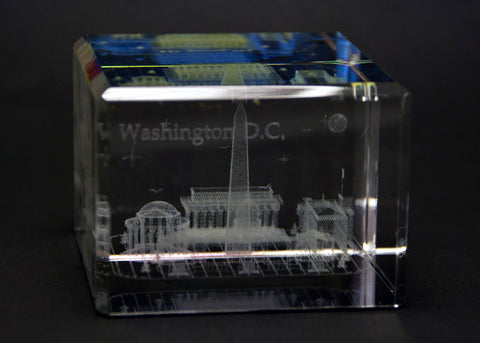 Washington DC Rectangle Crystal Paper Weight