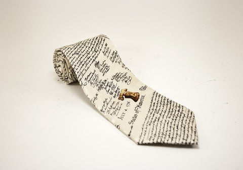 Declaration of Independence Necktie (A)