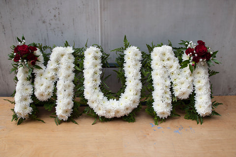 Lettered Funeral Tribute