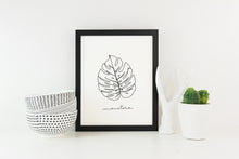 Monstera Line Drawing Art Print