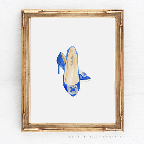 Wedding Shoes Fashion Illustration