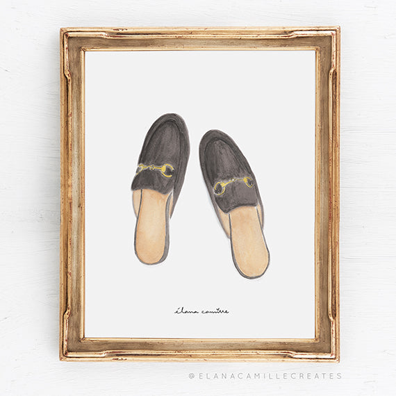 Loafer Mules Art Print
