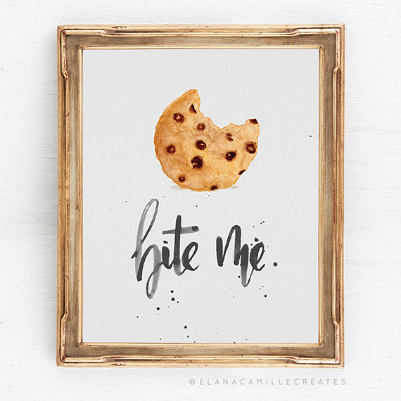 Bite Me Cookie Art Print