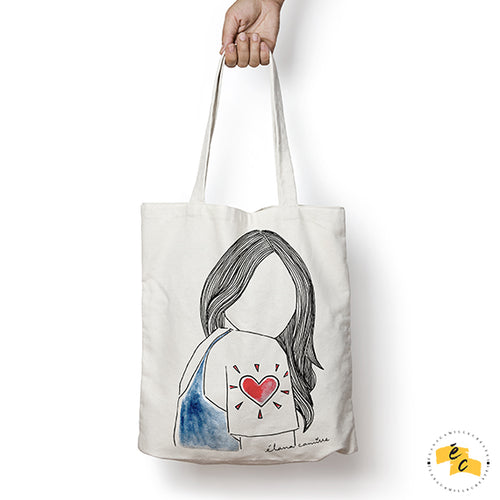 Wear Your Heart On Your Sleeve Canvas Tote Bag