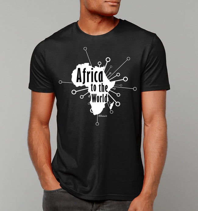 Africa to the world tshirt -Black