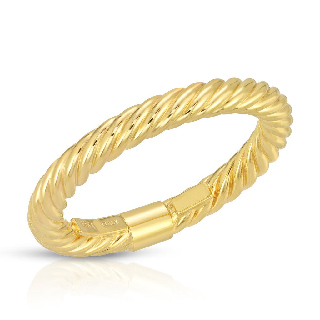 14K Twisted Band