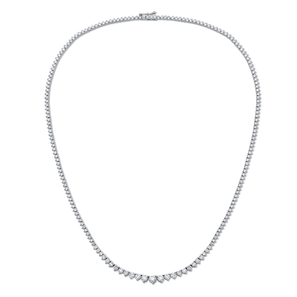 14K Diamond 3 Prong Riviera Necklace
