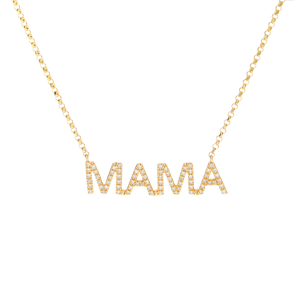 14K Diamond Mama Necklace