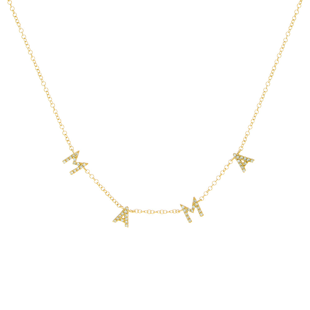14K Diamond Mini Mama Necklace