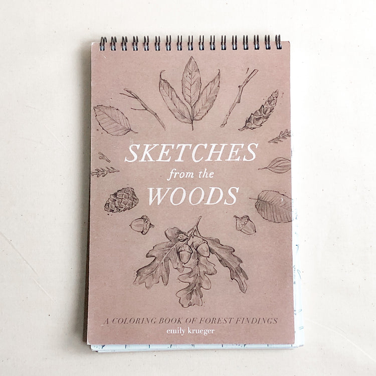 Sketches in the Woods Coloring Book