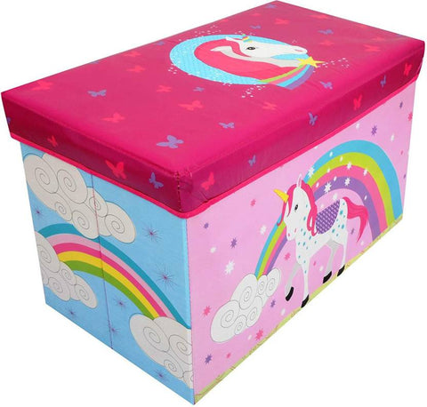 BestP Unicorn Print Storage Box | Folding Storage Box | Under Lid Storage with Padded Seat - BestP : Best Product at Best Price