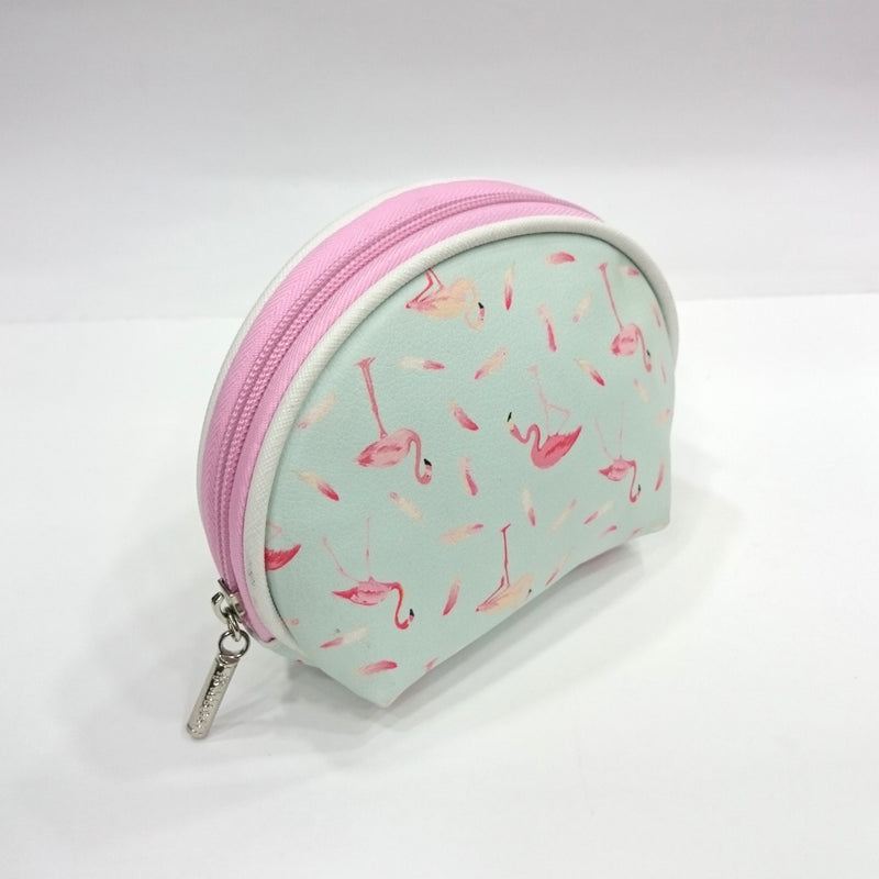 Flamingo Print Cosmetic/Travel Pouch in Sky Blue Color | Set of 2 - BestP : Best Product at Best Price