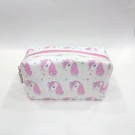Unicorn Print Cosmetic/Travel Pouch in White Color - Best Price Company India