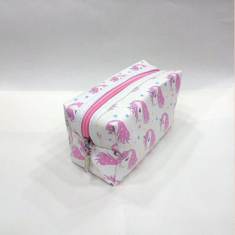 Unicorn Print Cosmetic/Travel Pouch in White Color - BestP : Best Product at Best Price