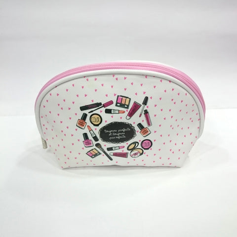Makeup Kit Print Cosmetic/Travel Pouch in White Color - Best Price Company India