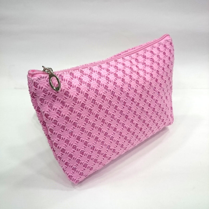 Embroidered Cosmetic/Travel Pouch in Pink Color - BestP : Best Product at Best Price