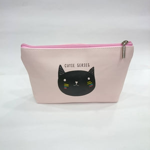 Kitty Print Cosmetic/Travel Pouch in Pink Color - Best Price Company India