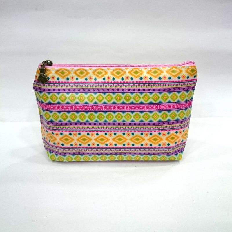 Iris Print Cosmetic/Travel Pouch in Multicolor - BestP : Best Product at Best Price