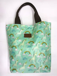 Unicorn Print Multipurpose Tote Handbag in Green Color - Best Price Company India