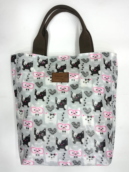 Assorted Print Multipurpose Tote Handbag in Grey Color - Best Price Company India
