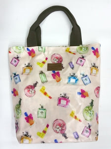 Assorted Print Multipurpose Tote Handbag in Light Pink Color - Best Price Company India