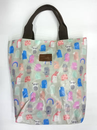 Cartoon Print Multipurpose Tote Handbag in Rusty Green Color - Best Price Company India