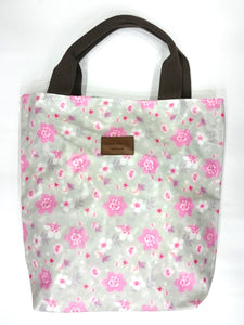 Flower Print Multipurpose Tote Handbag in Light Grey Color - Best Price Company India