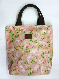Flower Print Multipurpose Tote Handbag in Light Pink Color - Best Price Company India