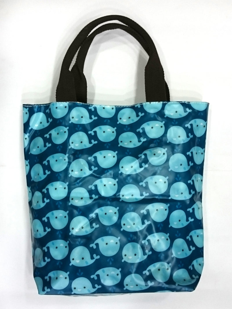 Assorted Print Multipurpose Tote Handbag in Blue Color - BestP : Best Product at Best Price