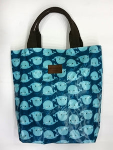 Assorted Print Multipurpose Tote Handbag in Blue Color - Best Price Company India