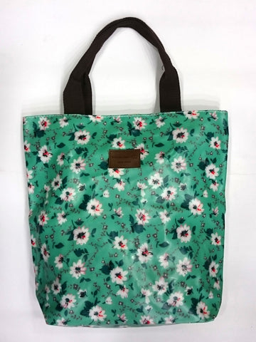 Flower Print Multipurpose Tote Handbag in Green Color - Best Price Company India