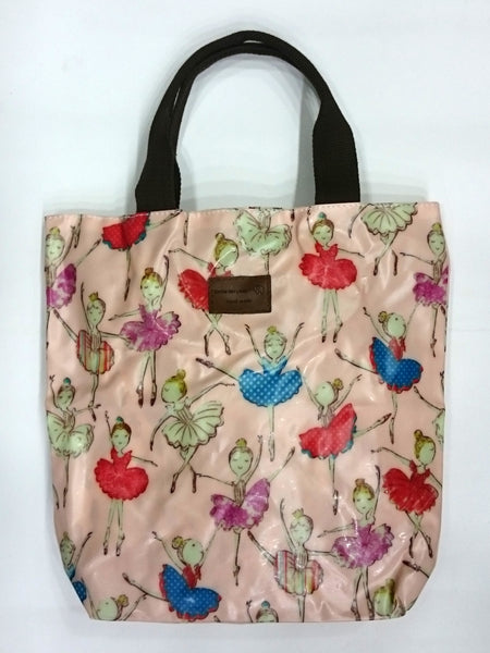 Dancing Girl Print Multipurpose Tote Handbag in Light Pink Color - BestP : Best Product at Best Price